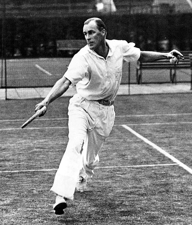 The theatrical Tilden, who was the dominant men's player of the 1920s, bagged 10 major titles before leaving the amateur ranks in 1930. He remained a star attraction after turning 40 in '33, filling arenas like Madison Square Garden for high-stakes matches.