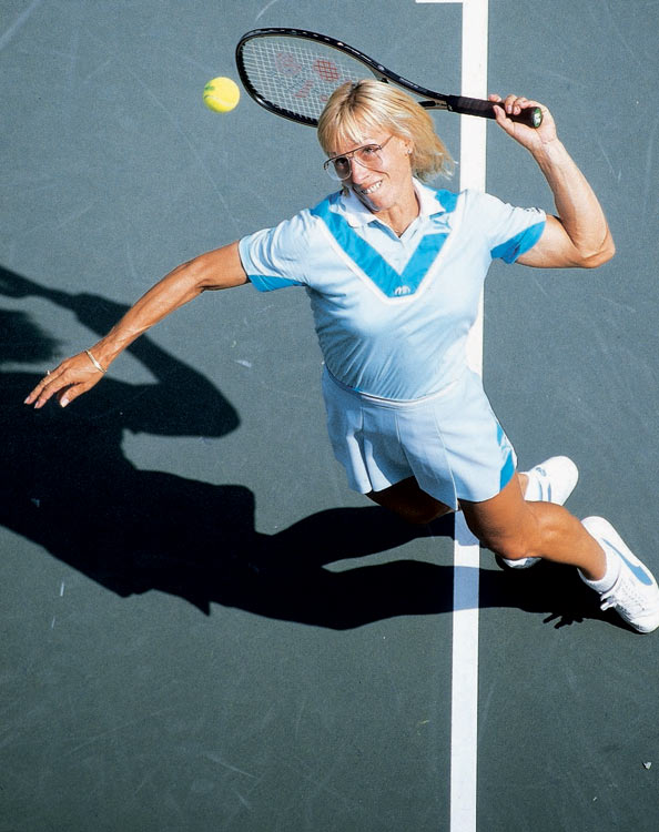 In 2003, Navratilova won the mixed doubles titles at the Australian Open and Wimbledon alongside Leander Paes, becoming the oldest-ever Grand Slam champion at 46 years and eight months. She won a first-round singles match at Wimbledon the following year, becoming the oldest player to win a professional singles match in the Open Era. Navratilova's final major title in mixed doubles came with Bob Bryan at the 2006 U.S. Open, just one month shy of her 50th birthday.