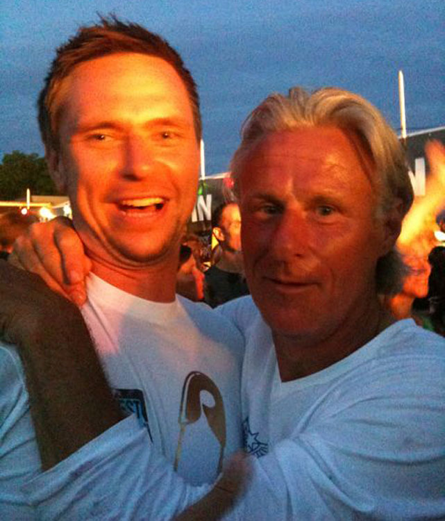 "Soderling (left, with Bjorn Borg) hails from Sweden but lists his location as ""Always Traveling."" His matter-of-fact tweets, peppered with Twitpics from his travels, emphasize the itinerant state of being.  SAMPLE TWEET  ""had brunch at the boat house in central park today  http://twitpic.com/2h8ooj """
