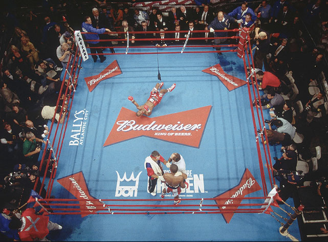 Shortly after a dramatic 12th-round knockout, referee Steve Smoger put a stop to the fight, marking the first loss of Trinidad's career.