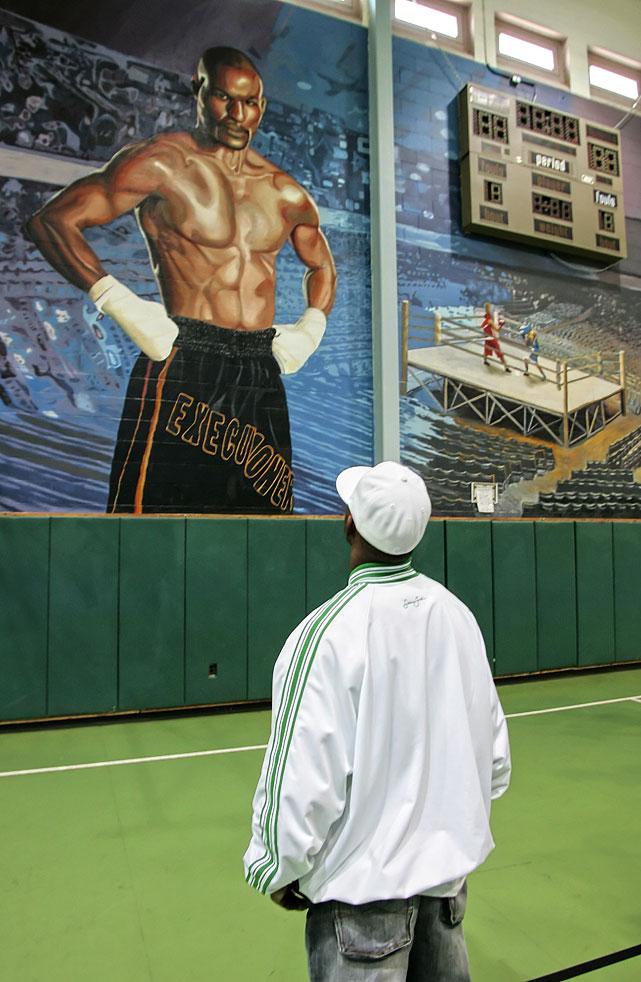 Hopkins attended the dedication of a 45-by-20-foot mural of himself made by the prisoners at Graterford, where he served time as a young adult and learned the discipline necessary to be a top-flight boxer.