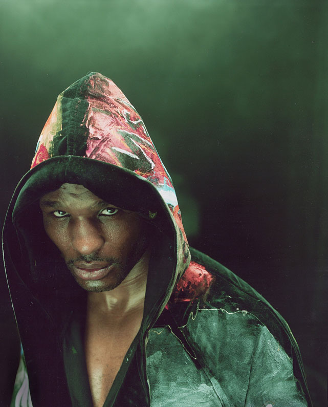 One month before this 2005 portrait shoot with Walter Iooss Jr., Hopkins made his division-record 20th consecutive middleweight title defense against Howard Eastman.