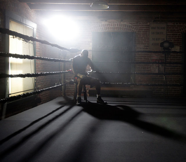 Hopkins, shown here during a break in training in Los Angeles, was already 43 on the night of the Calzaghe fight.