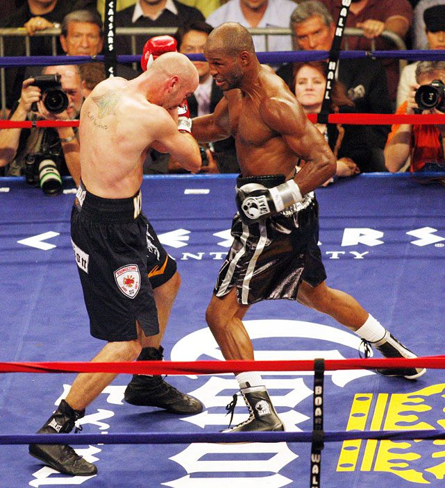 Hopkins was a 4-to-1 underdog against middleweight champion Kelly Pavlik in a non-title fight at a catchweight of 170 pounds. But the crafty veteran boxed circles around the hard-hitting youngster to earn a one-sided unanimous decision.