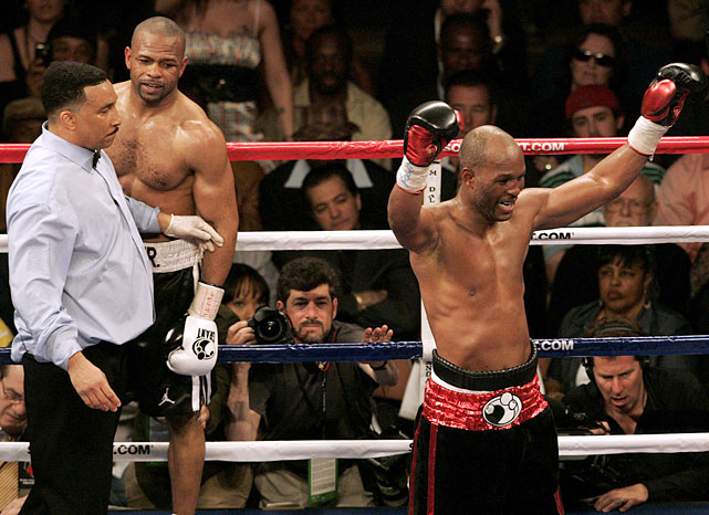 Hopkins finally avenged his 1993 loss to Roy Jones Jr., more than 17 years after their initial meeting. The 45-year-old Hopkins easily outpointed the 41-year-old Jones in a foul-filled mess of a fight.