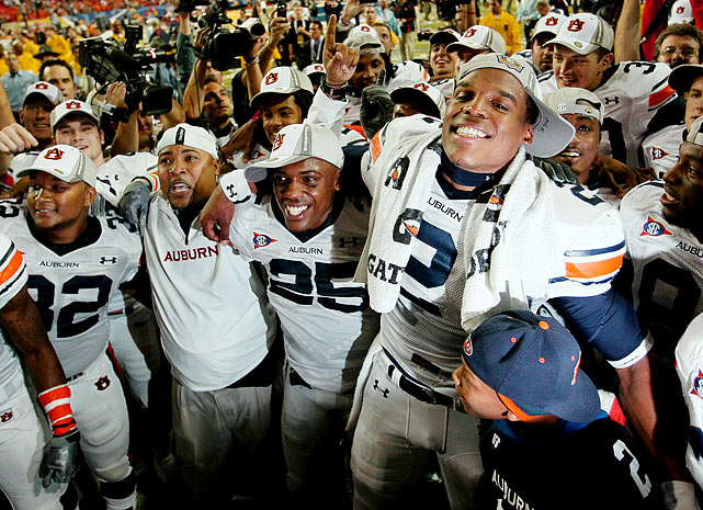 Auburn's biggest victory came on Dec. 4 against South Carolina in the SEC Championship game. The heavily-favored Tigers blew out the Gamecocks, 56-17, as Newton scored a career-best six touchdowns (four throwing, two running).