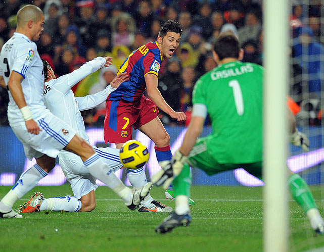 La Liga observers expected a riveting show in perhaps the most-hyped clasico of all time between bitter, star-laden rivals Real and Barca. The game did turn out to be unforgettable, but only for Barcelona, which won a one-sided affair and turned in one of the greatest single-game performances ever. David Villa scored twice and Lionel Messi set up two goals and controlled play for Barca, which won its fifth straight game against Real.