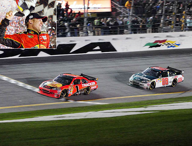 This Daytona 500 will forever be known for its infamous pothole, but it was a pretty good race before and after the two red flags came out. The race went into two extra sessions of overtime before Jamie McMurray won, 6 hours and 12 minutes after the green flag waved. McMurray was one of 21 race leaders, a Daytona 500 record, and the 52 lead changes were the third most. The only time he was in front was for the final two laps -- the fewest for a Great American Race winner.