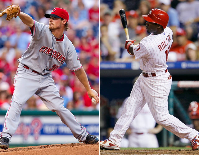 It was almost a playoff preview in more ways than one. Just under three months before the two teams met at the same Citizen's Bank Ballpark for Game 1 of the NLDS in which Roy Halladay threw a no-hitter, the Reds' Travis Wood made a bid for some history of his own. Wood carried a perfect game into the ninth inning. The only problem was that his team had yet to score off Halladay. Wood gave up a double in the ninth but kept the game scoreless. He left after nine innings. Two innings later, the Phillies won on Jimmy Rollins' RBI single.