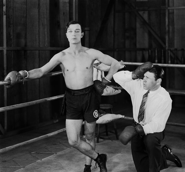 "Directed by Buster Keaton. Starring Buster Keaton, Sally O'Neil, Walter James.   THE STORY  Pampered Alfred Butler (Keaton) is forced by his millionaire father to go on hunting trip so he can learn to be a man. After falling for a young mountain girl, he poses as professional boxer Alfred ""Battling"" Butler to gain the favor of her disapproving father. Hilarity ensues when he's forced into the ring to keep up the charade.  THE LEGACY  Keaton, the legendary comic actor-director of the silent era, saves one of the most uproarious twists in movie history for the final reel.  THE QUOTE  ""And so for three weeks Alfred trained and starved and suffered and ached and bled and groaned and hoped and prayed -- and then came the storm.""  --Title card"