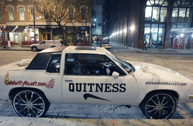 "You remember the ""Witness"" car -- that souped-up Cutlass Supreme with Lambourghini doors and a petition for LeBron to stay in Cleveland on its hood. Well, since The King bolted for Miami, the car has undergone some minor alterations."