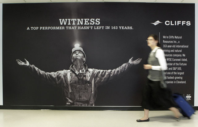 "And in Cleveland Hopkins Airport, there's a new ""Witness."" Cliffs Natural Resources, a minerals company with deep roots in Cleveland, launched a publicity campaign to raise its profile at the expense of LeBron James."