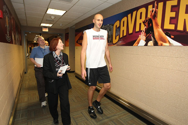 By the way ... this was also Zydrunas Ilgauskas' homecoming, too. Just in case everyone forgot. Cleveland didn't boo him though.