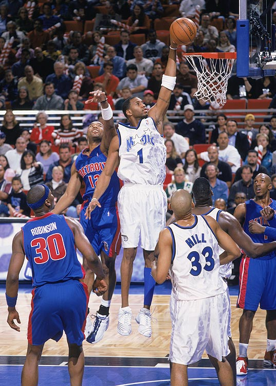 As late as Christmas Eve, Tracy McGrady's status for the Magic-Pistons game was in doubt. But come Christmas Day, it hurt McGrady more to watch from the bench than to play. Hobbled, he burned the Pistons for 46 points, six rebounds and three steals in the Magic's 104-99 victory.