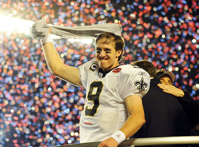 32 -- Drew Brees tied Tom Brady's  Super Bowl record with 32 completions (on 39 attempts) during the Saints' 31-17 victory  over the Indianapolis Colts.