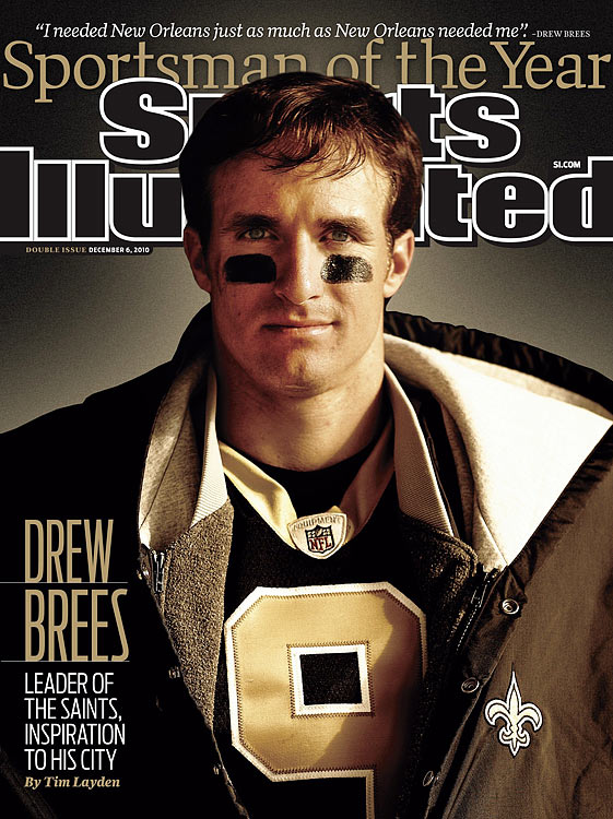 57 -- Brees was named Sports Illustrated's 57th Sportsman of the Year for his accomplishments on the field and off.