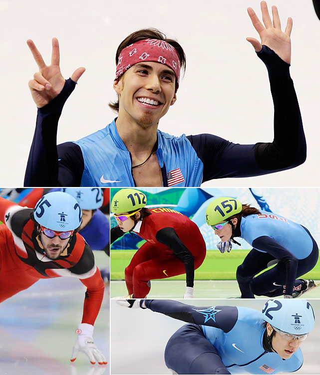 Apolo Ohno skated into history with three more medals (one silver, two bronzes) to become the most decorated U.S. Winter Olympian ever (eight total). It was likely Ohno's final Games, but with his farewell came the entrance of two new American medalists. Katherine Reutter won silver chasing Chinese star Wang Meng (two golds, one silver), while J.R. Celski (bottom right) shared in Ohno's spotlight with two bronzes of his own. Charles Hamelin (bottom left) was the biggest Canadian presence, taking two golds.