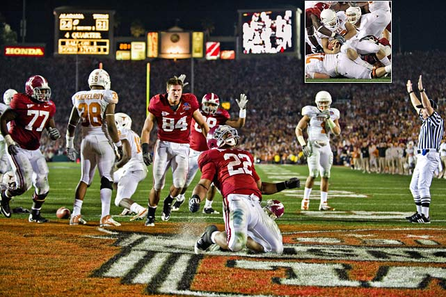 Alabama knocked Texas quarterback Colt McCoy out of the game early, then made a big play late to stop a Longhorns comeback in a 37-21 victory that gave the Crimson Tide it's first title since 1992.