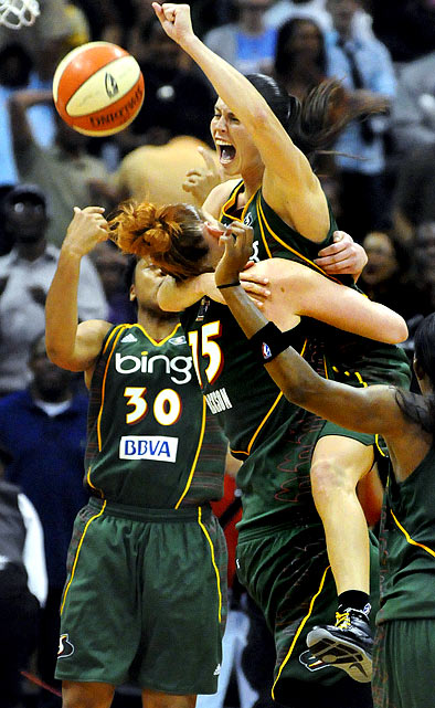The Seattle Storm made up for losing in the first round of five consecutive WNBA playoffs and went undefeated in this year's to win their first title since 2004.
