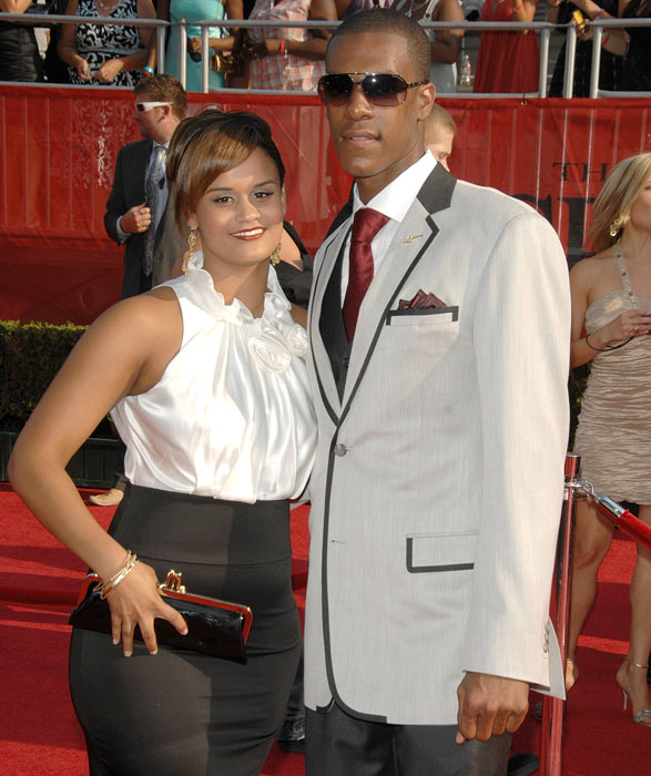 Rondo and a guest arrive at the 2008 ESPY Awards in Los Angeles. The Celtics would go on to win the award for best team.