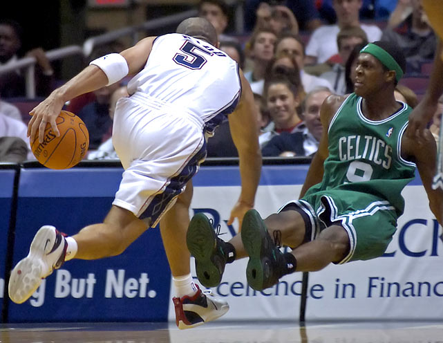 Phoenix took Rondo with the 21st pick in the 2006 draft and immediately shipped him to Boston in a cost-cutting move. He was forced into backup duty his first season behind Sebastian Telfair but wound up starting 25 games for the Celtics. He finished the season averaging six points and four assists per game, good enough for a spot on the All-Rookie Second Team.