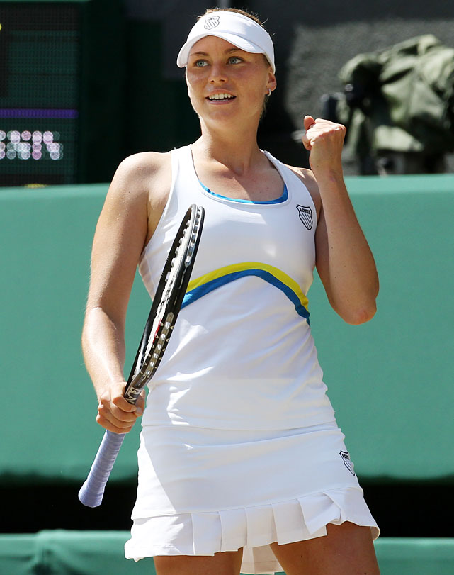 COUNTRY  Russia  CURRENT RANKING  2  WHY YOU SHOULD KNOW HER  For years prone to self-destructive emotional outbursts at critical junctures, Zvonareva made made dramatic strides in her mental game in 2010. She reached the final at both Wimbledon and the U.S. Open while surging up to second in the rankings.