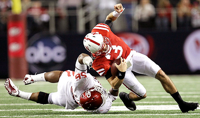 This is not the way Nebraska envisioned making its Big 12 exit. The Cornhuskers (10-3) got out to a 17-0 lead, but Taylor Martinez and Co. committed four turnovers and were held scoreless in the second half for the first time all season. Oklahoma (11-2) has won seven Big 12 titles under Bob Stoops.