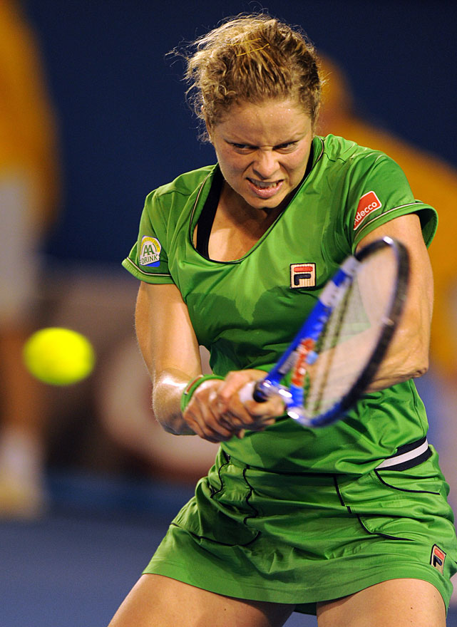 Clijsters returns to Li during Saturday's final.