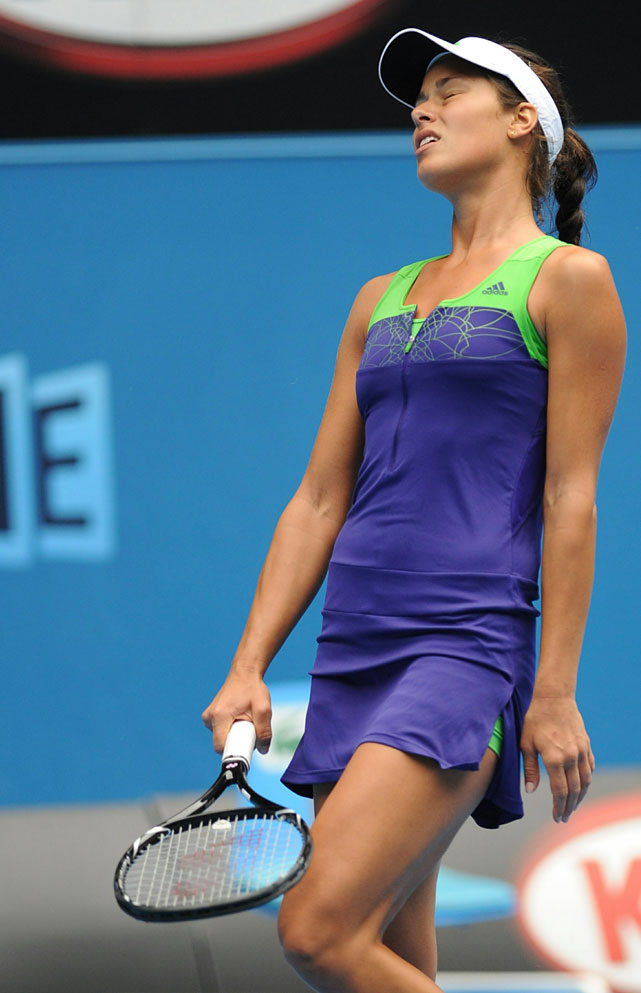Ana Ivanovic suffered a 3-6, 6-4, 10-8 upset loss to 49th-ranked Ekaterina Makarova in two hours and 47 minutes.
