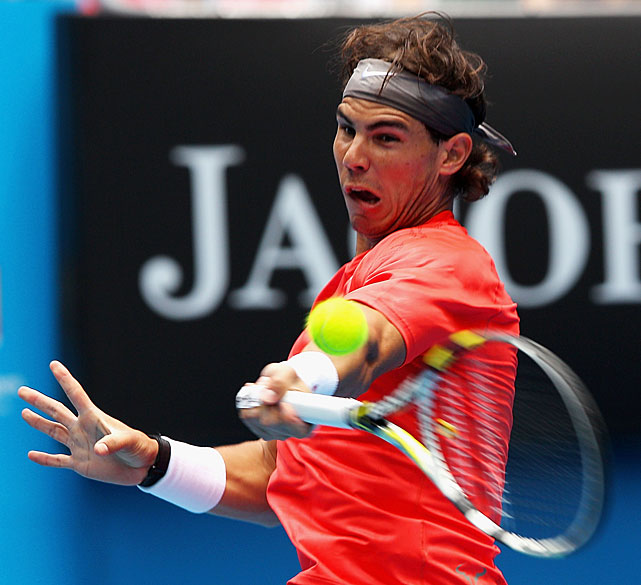 Rafael Nadal led 6-0, 5-0 when Brazil's Marcos Daniel retired with a left knee injury.