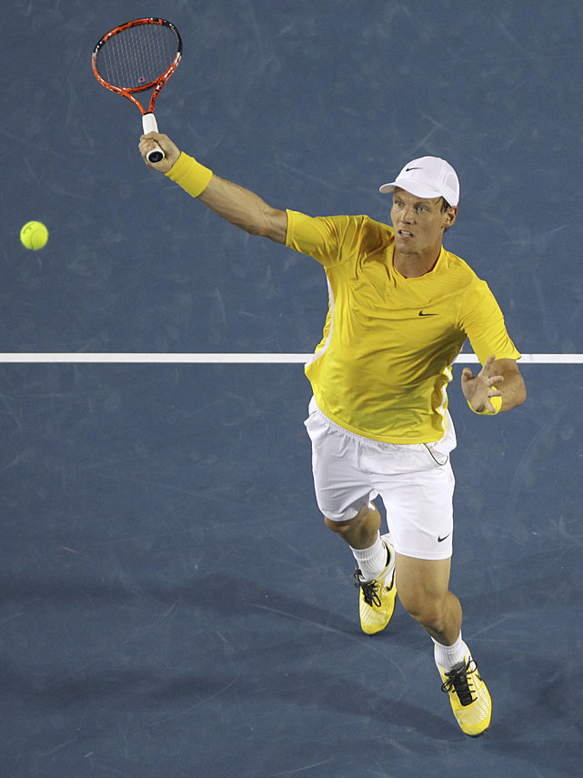 Berdych capitalized on the first break points of the match to take a 4-1 lead in the second set, but it didn't hold.