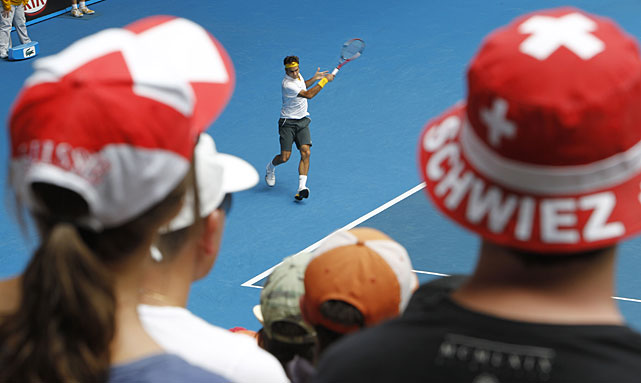 Most Swiss spectators cheered for both Federer and Wawrinka during Tuesday's match.