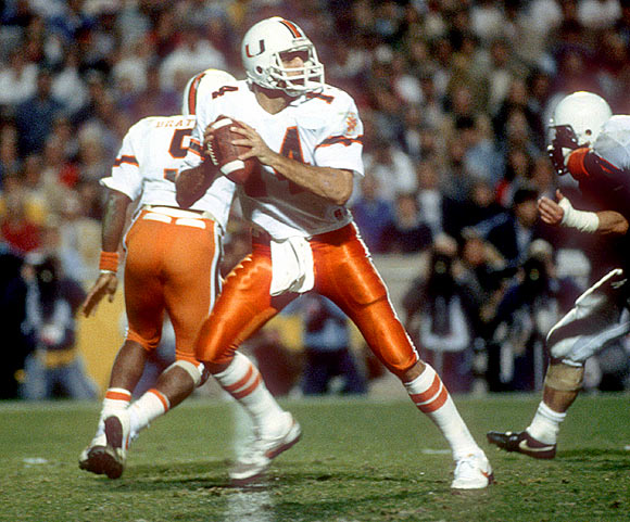 Testaverde threw five interceptions as Miami lost to Penn State 14-10 in the Fiesta Bowl.