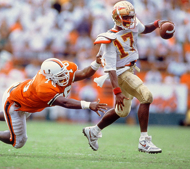Ward became the first Heisman winner since Tony Dorsett to win the national championship, throwing for 286 yards as the Seminoles beat Nebraska 18-16 in the Orange Bowl.