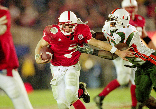 Crouch ran for 114 yards, but was only 6-for-15 passing for 62 yards as the Cornhuskers lost to Miami 37-14 in the Rose Bowl.