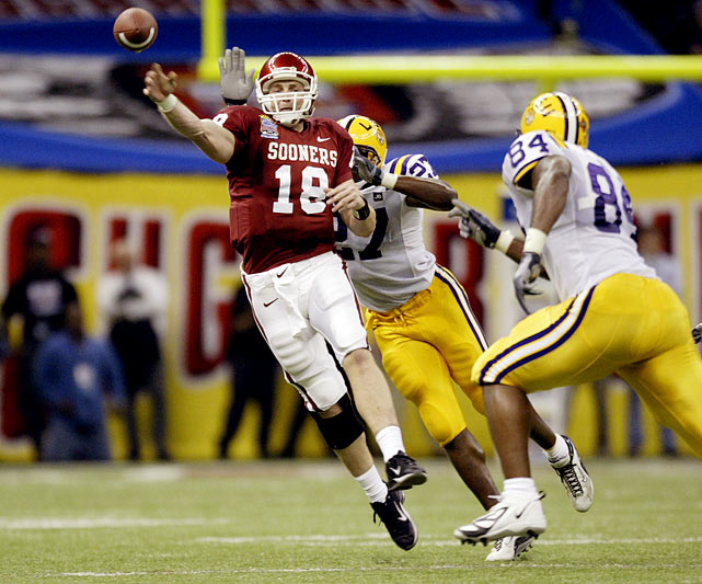 White was 13-for-37 for 102 yards with two interceptions as the Sooners lost to LSU 21-14 in the Sugar Bowl.