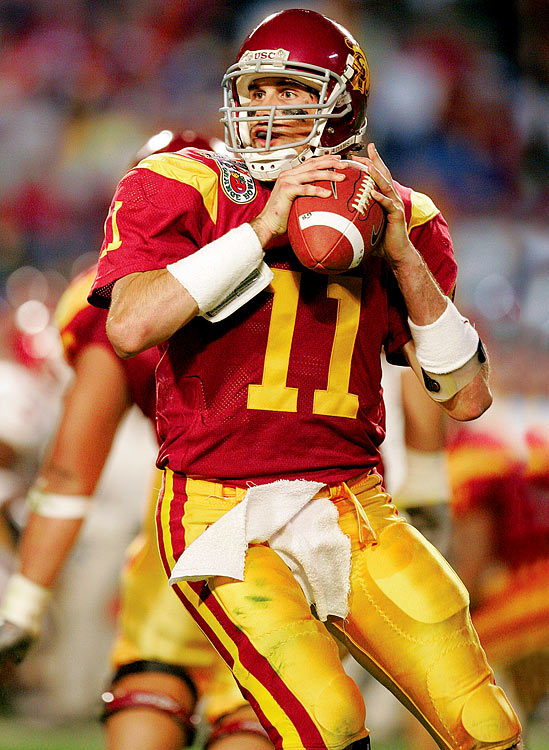 Leinart passed for 352 yards and a record five touchdowns as the Trojans beat Oklahoma 55-19 in the Orange Bowl.
