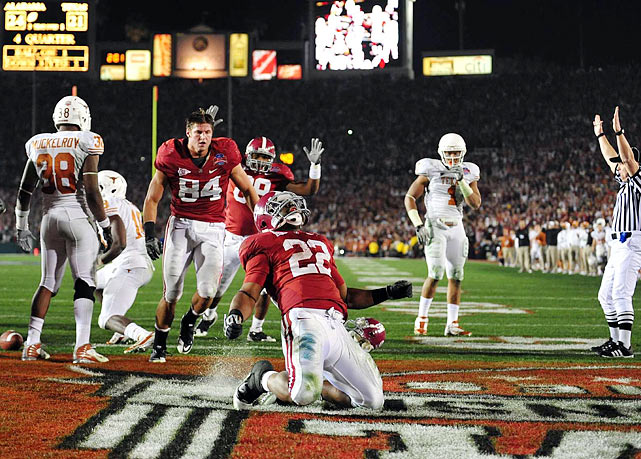 Ingram rushed for 116 yards and two touchdowns as the Crimson Tide defeated the Longhorns 37-21 in the BCS title game.