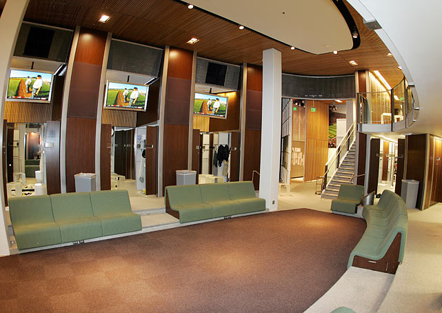 The state-of-the-art Oregon football locker room at Autzen Stadium cost nearly $3.2 million to build back in 2003.