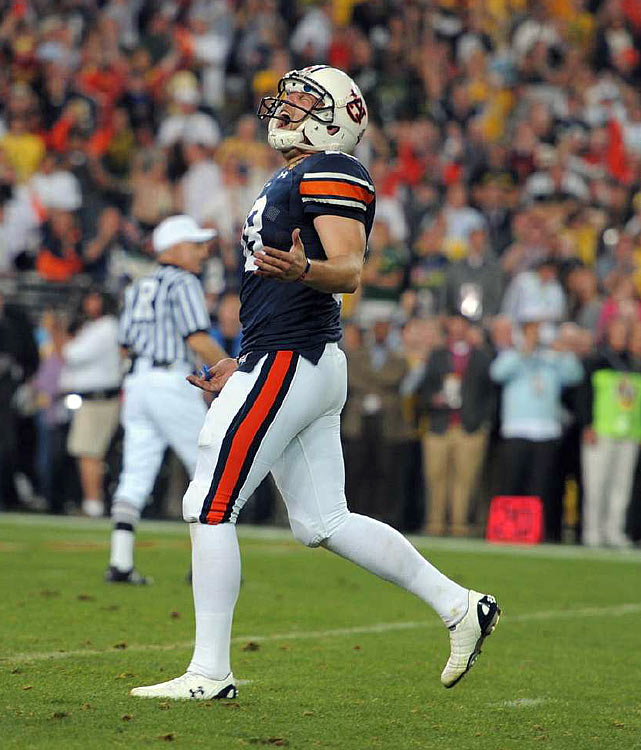 Wes Byrum's 19-yard field goal as time ran out gave Auburn its first national title in 54 years and the fifth straight for an SEC team.