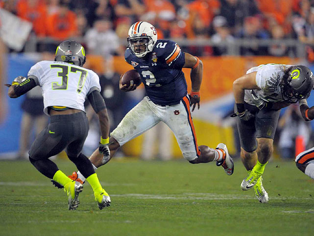 Auburn quarterback Cam Newton rushed 22 times for 65 yards, including one carry for 18 yards.