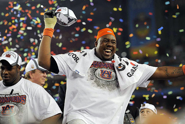 Nick Fairley and his teammates were all smiles after Auburn's 22-19 victory over Oregon left the Tigers with a spotless 14-0 record.