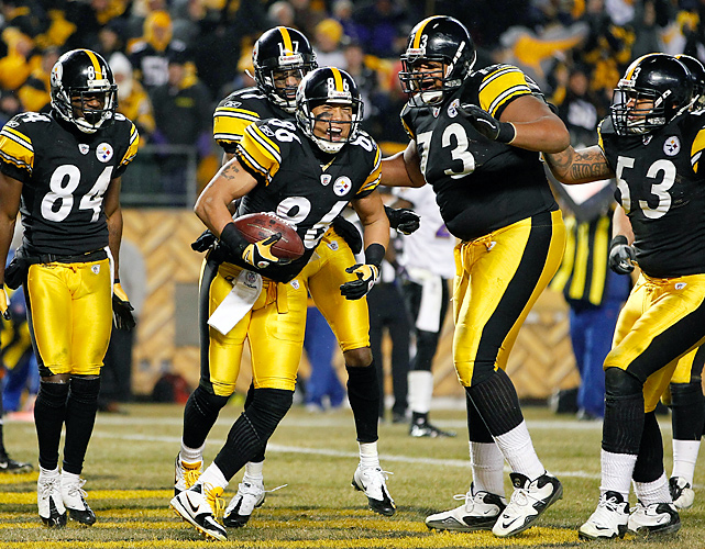 Ward was instrumental in the Steelers' comeback, catching an 8-yard scoring pass in the third quarter that tied the game. The wide receiver finished with three catches for 25 yards.