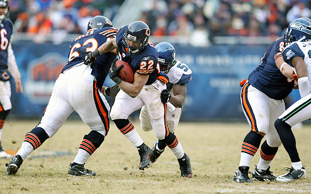 The versatile back carried 25 times for 80 yards and caught three passes for 54 for the Bears, who will play the Packers for the 182nd time next Sunday, but their first time for the NFC title.