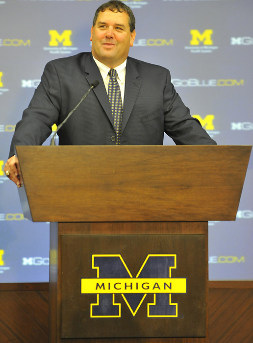 While Jim Harbaugh would have been an A , Hoke is very much what Michigan needs in the wake of the polarizing Rich Rodriguez era: An old-school Midwesterner with ties to the program (he served on Lloyd Carr's staff for eight years) who happens to have impressive credentials. Anyone that can win 12 games at Ball State and make San Diego State relevant again knows how to build a program.