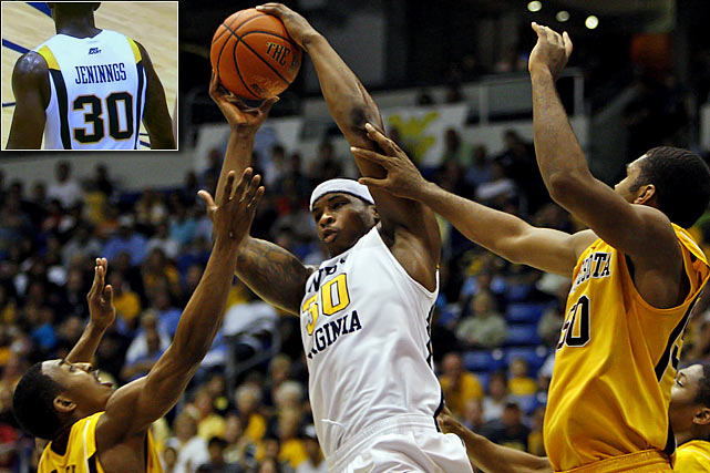 "Also on Nov. 21, 2010, West Virginia's Danny Jennings suffered the same fate as Kevin Williams, taking the floor against Minnesota with ""JENINNGS"" on the back of his jersey. Perhaps even more bizarre is that most would not consider names like Williams and Jennings unusual or difficult to spell to begin with, let alone on the same day."