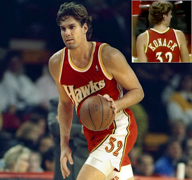 "Former Hawks big man Jon Koncak is perhaps best remembered for the six-year, $13 million contract he received from the Hawks in 1989 -- an unprecedented total for a reserve. Having earned the nickname ""Jon Contract,"" one would think his jersey would have been misspelled differently in '93."