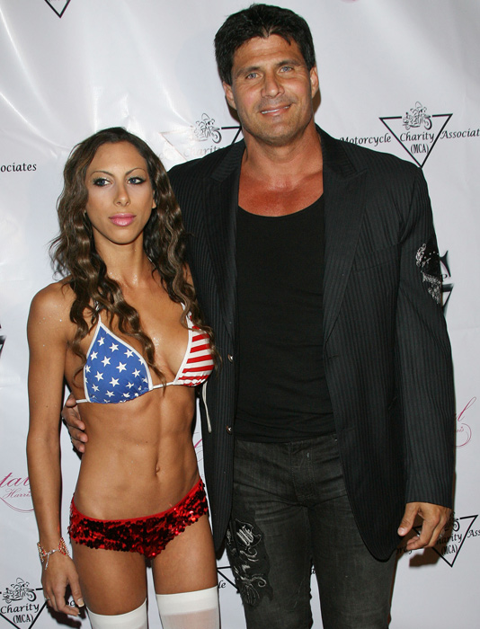 Canseco has also been a fixture on the party circuit, showing up with a guest at the Stars and Stripes Party at the Playboy Mansion last May.