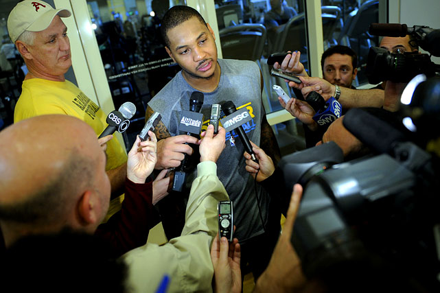 Carmelo Anthony has been the LeBron James of 2010-11, despite his claim of wanting to handle things differently. Ever since the Nuggets offered Anthony a three-year, $65 million contract extension in June -- which the star forward has held off on signing -- rumors and reports of his next move have hovered over the season. Remember Chris Paul's infamous toast at Carmelo's New York wedding in July? Remember the Nets' first failed trade attempt in September? Remember that three-team deal that appeared hours away from completion in January before being pronounced dead on Jan. 19? Yeah, welcome to the NBA's 'Melo-drama.