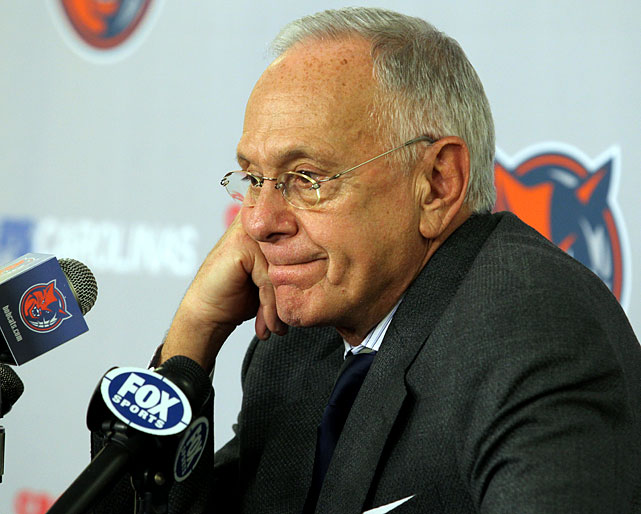 "In mutual agreement with Bobcats owner Michael Jordan, ""Next Town"" Larry Brown, one of the league's top 10 winningest coaches, announced he would step aside as Charlotte coach. Paul Silas was appointed interim coach and outspoken former Knick Charles Oakley was named an assistant. As for Brown, where he ends up is anyone's guess."